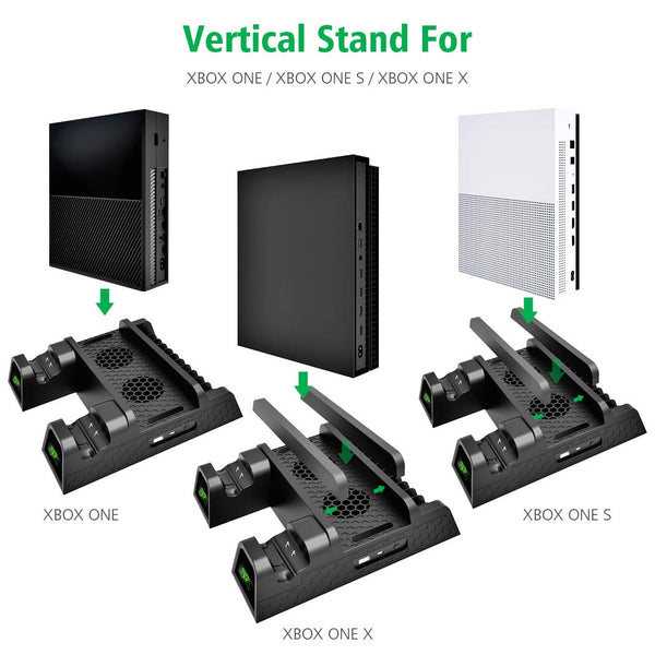 Vertical Cooling Stand Compatible with Xbox ONE X/ONE S/Regular ONE(Black)