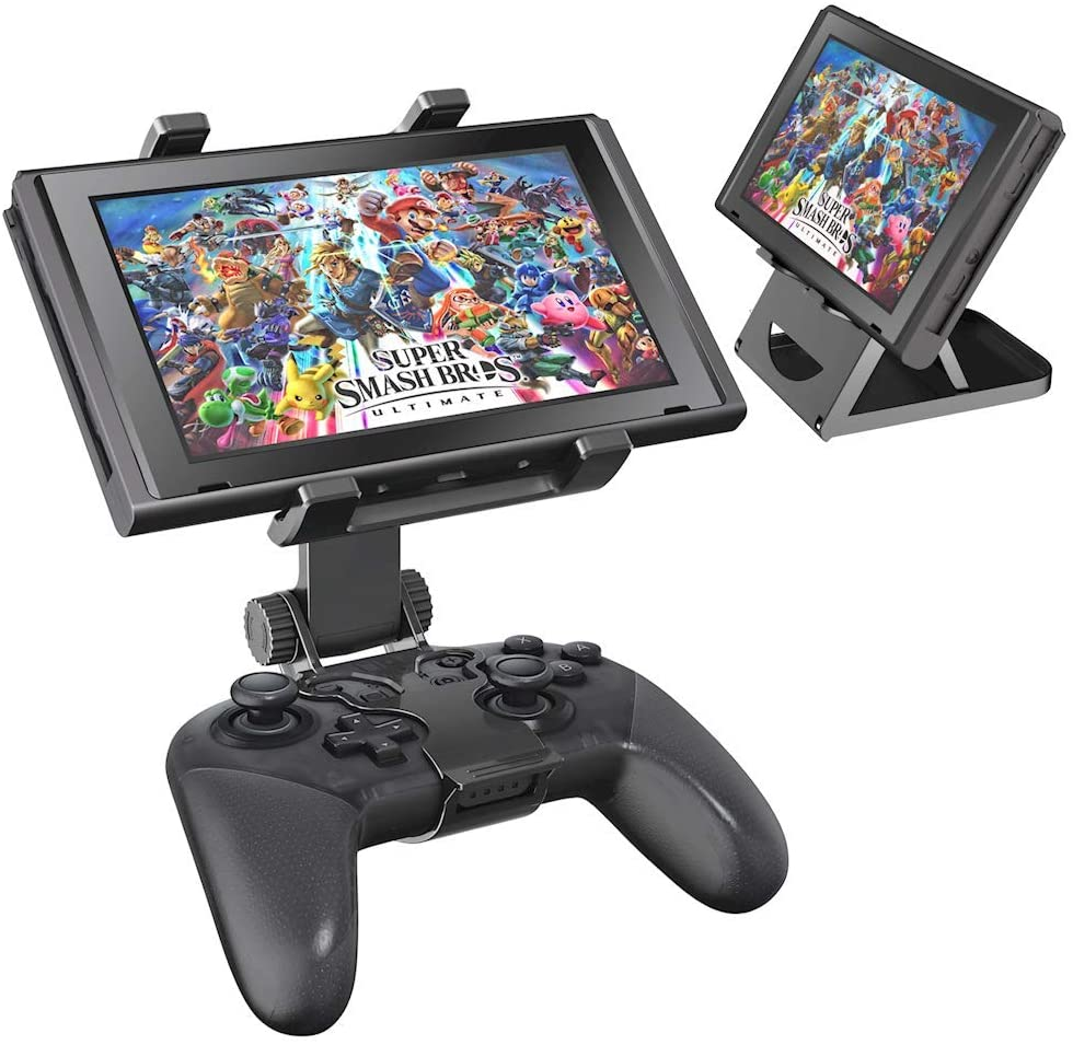 Switch Pro Controller Clip Mount with Adjustable Stand