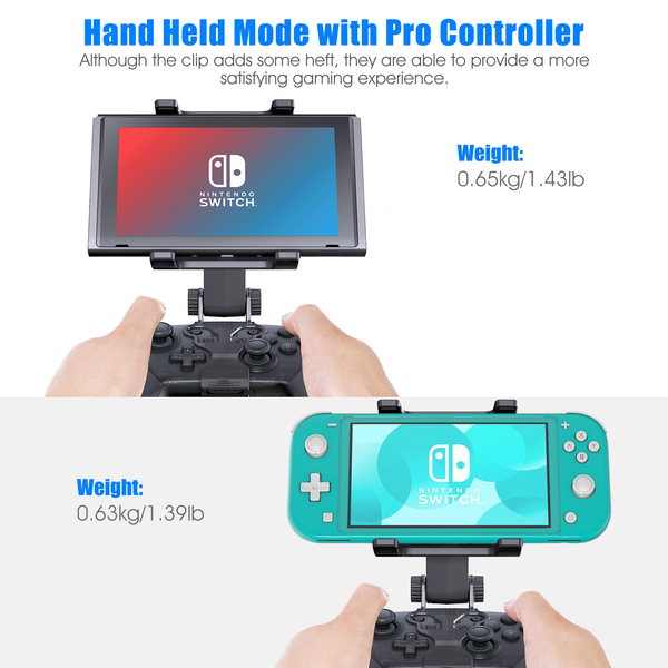 Switch Pro Controller Clip Mount for Nintendo Switch/Switch Lite