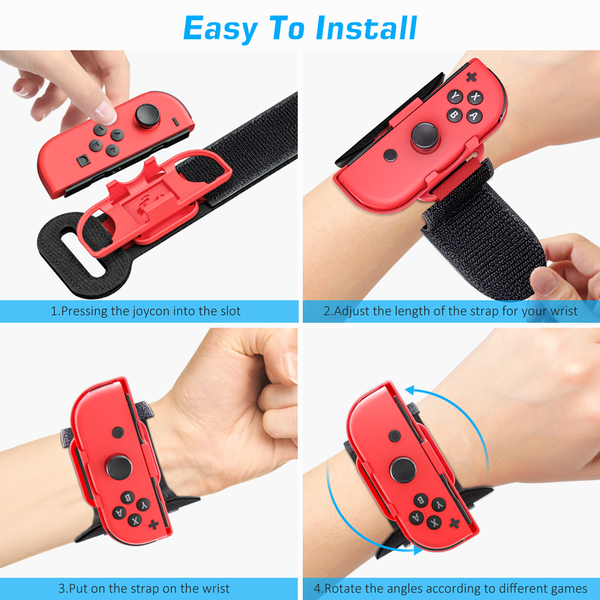 Switch Wrist Band for Nintendo Switch Just Dance - 2PACK