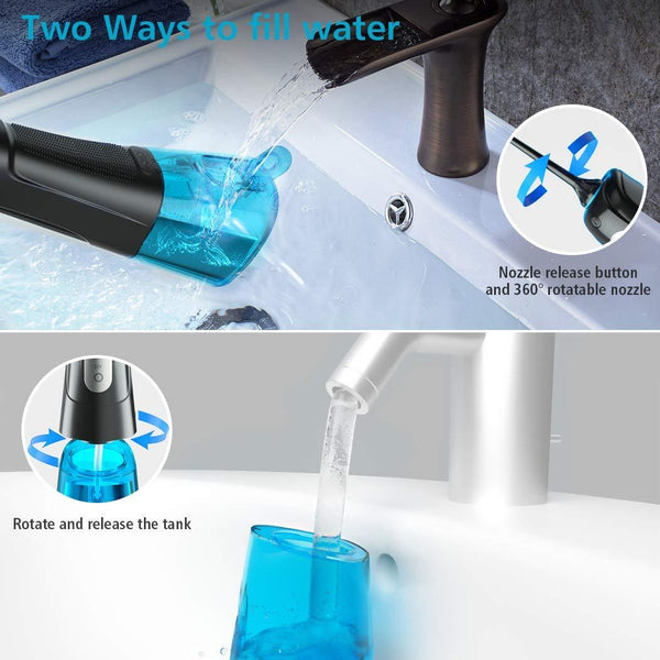 Water Flosser Cordless with Upgraded DIY Mode