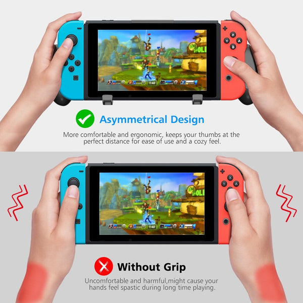 Switch Pro Grip with Upgraded Adjustable Stand for Nintendo Switch-Black