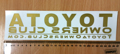 Toyota Owners Club Sticker Gold (Pair)