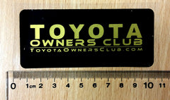 Toyota Owners Club Sticker Small Gold (Pair)