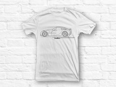 TVR Sagaris car outline T-shirt