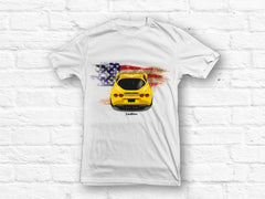 Corvette C6 American Flag White T-shirt