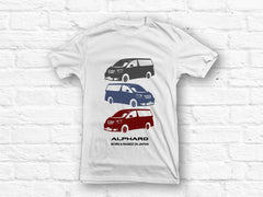 Toyota Alphard Born and Raised in Japan T-shirt
