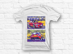 Toyota GT86 Abstract Design T-shirt