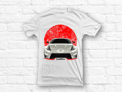 Nissan 370z Red Flag White T-shirt - SALE