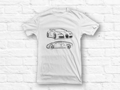 Bugatti Veyron Car Outline T-shirt