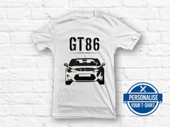 Toyota GT86 B&W graphic T-shirt