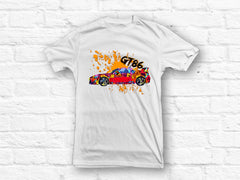 Toyota GT86 splat abstract design T-shirt