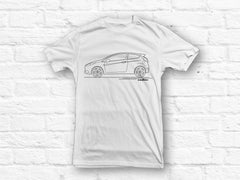 Ford Fiesta ST MK7 outline updated White T-shirt