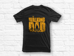 Walking Dad with 2 Sons T-shirt