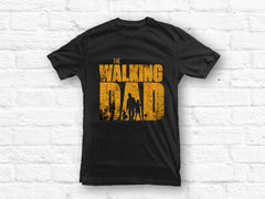 Walking Dad with 2 Daughters T-shirt - ver. 2