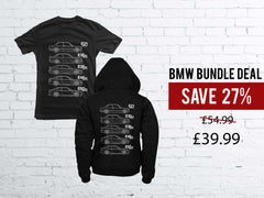 BMW Bundle Deal - Black Hoodie plus Black T-shirt