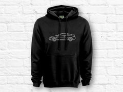 Ford Cougar Car Outline Hoodie