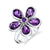 Amethyst Flower Power Ring