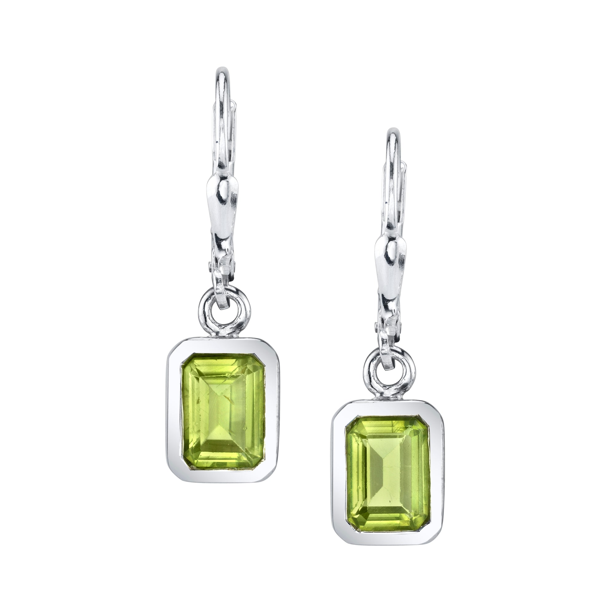 Faceted Rectangular Earrings