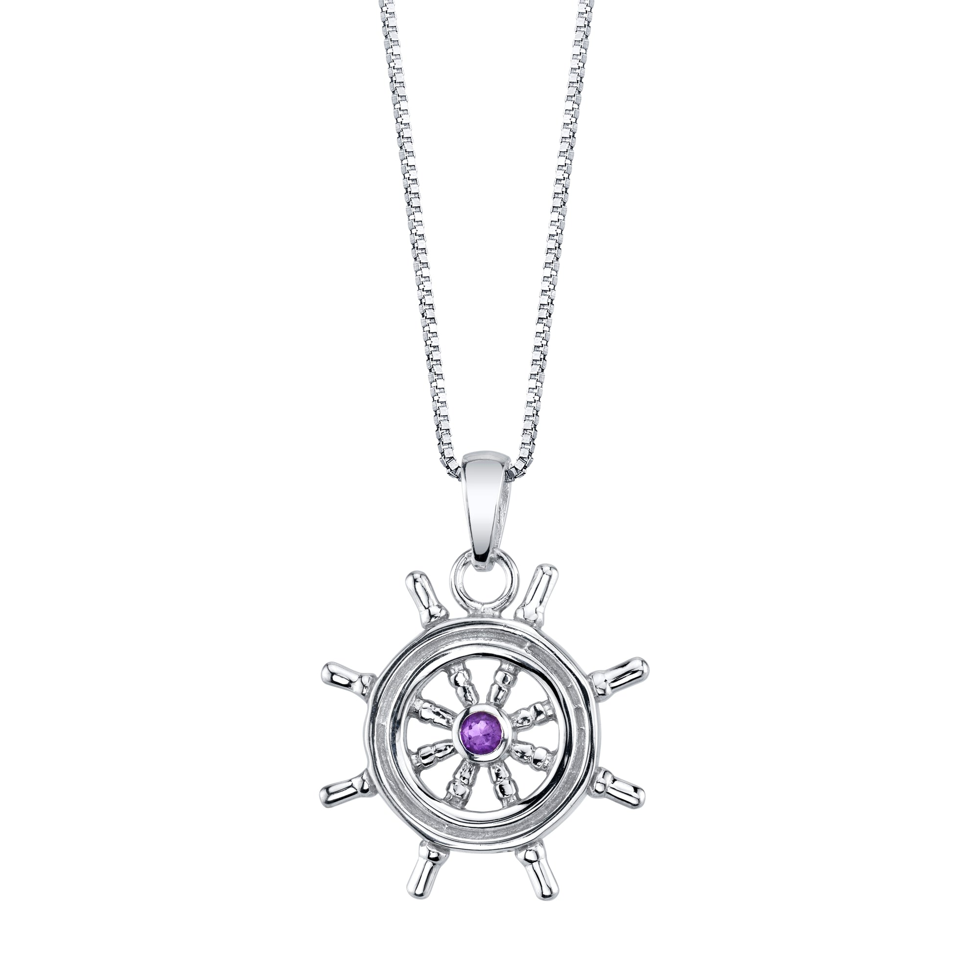 Nautical Wheel Pendant