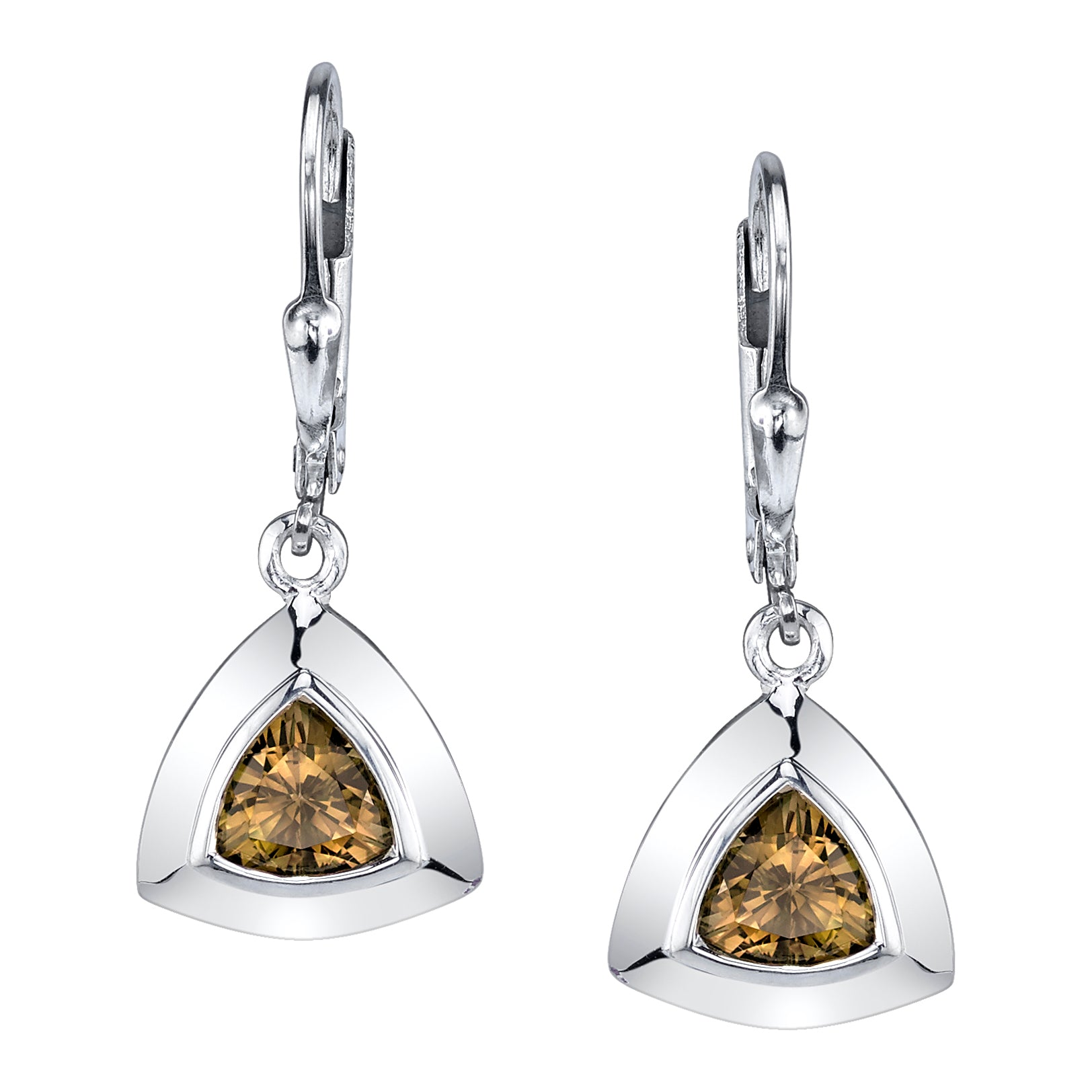 Trillion Triangle Earrings