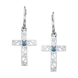 Filigree Cross Earring