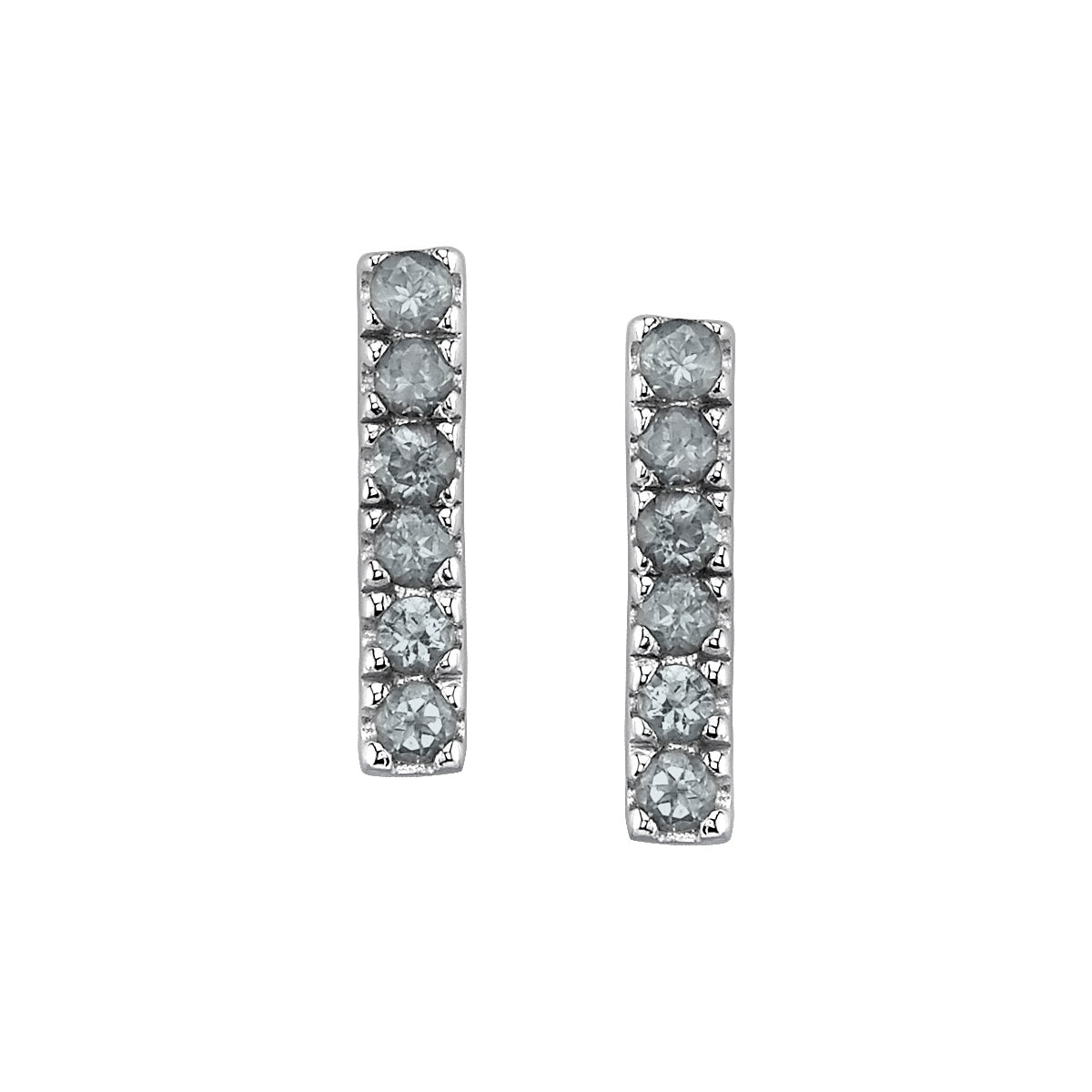 Six Stone Stud Earrings