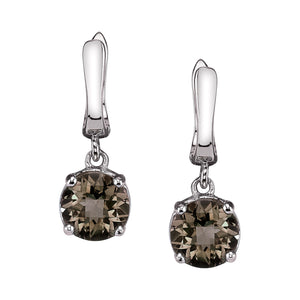 Checkerboard Stone Mini Hoop Earring
