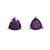 Four Peaks Amethyst Trillion Stud Earrings