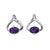 Amethyst Wishbone Stud Earrings