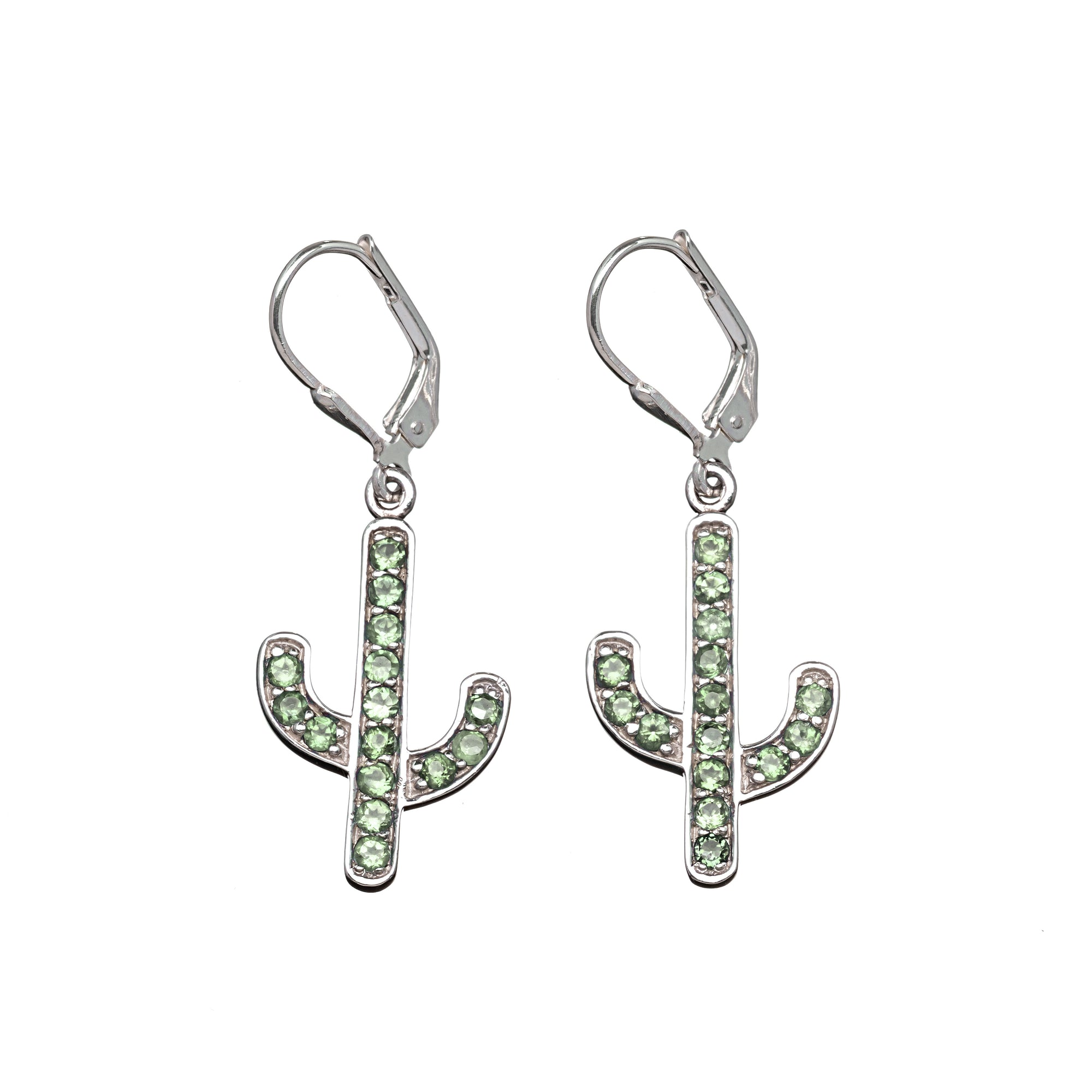 Pave Cactus Earrings