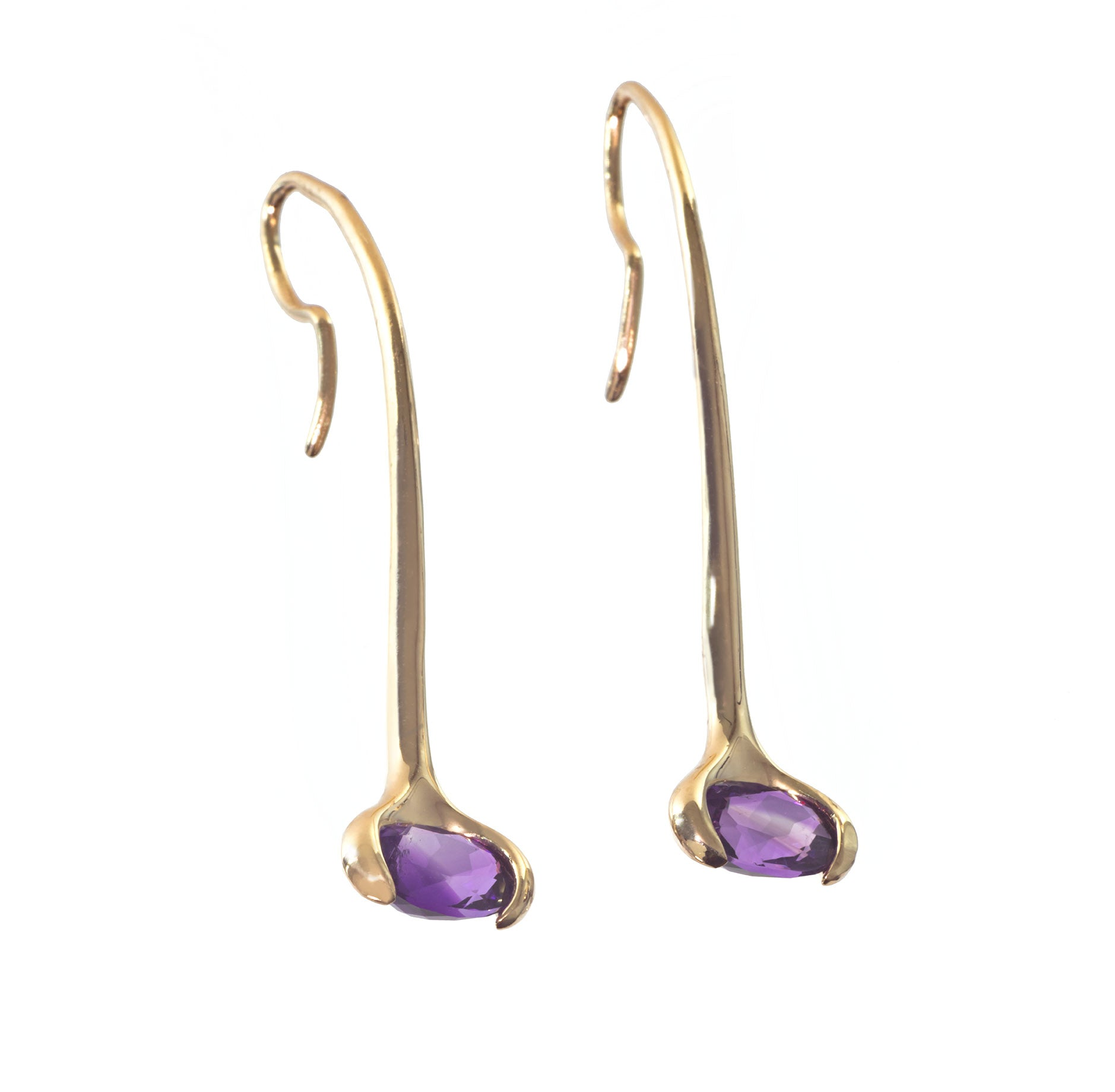 Gold Birthstone Drop Earring