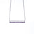 Pave Amethyst Sliding Bar Necklace