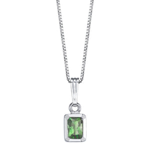 Faceted Rectangular Stone Pendant