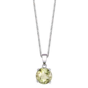 Checkerboard Faceted Solitaire Pendant
