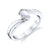 Twisted Setting Solitaire Ring