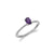 Small Beaded Solitaire Amethyst Ring