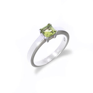 Solitaire Square Ring
