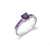 Square Amethyst Ring in Channel Setting