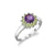 Amethyst and Peridot Flower Ring