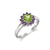 Peridot and Amethyst Flower Ring
