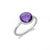 Faceted Bezel Set Amethyst Ring