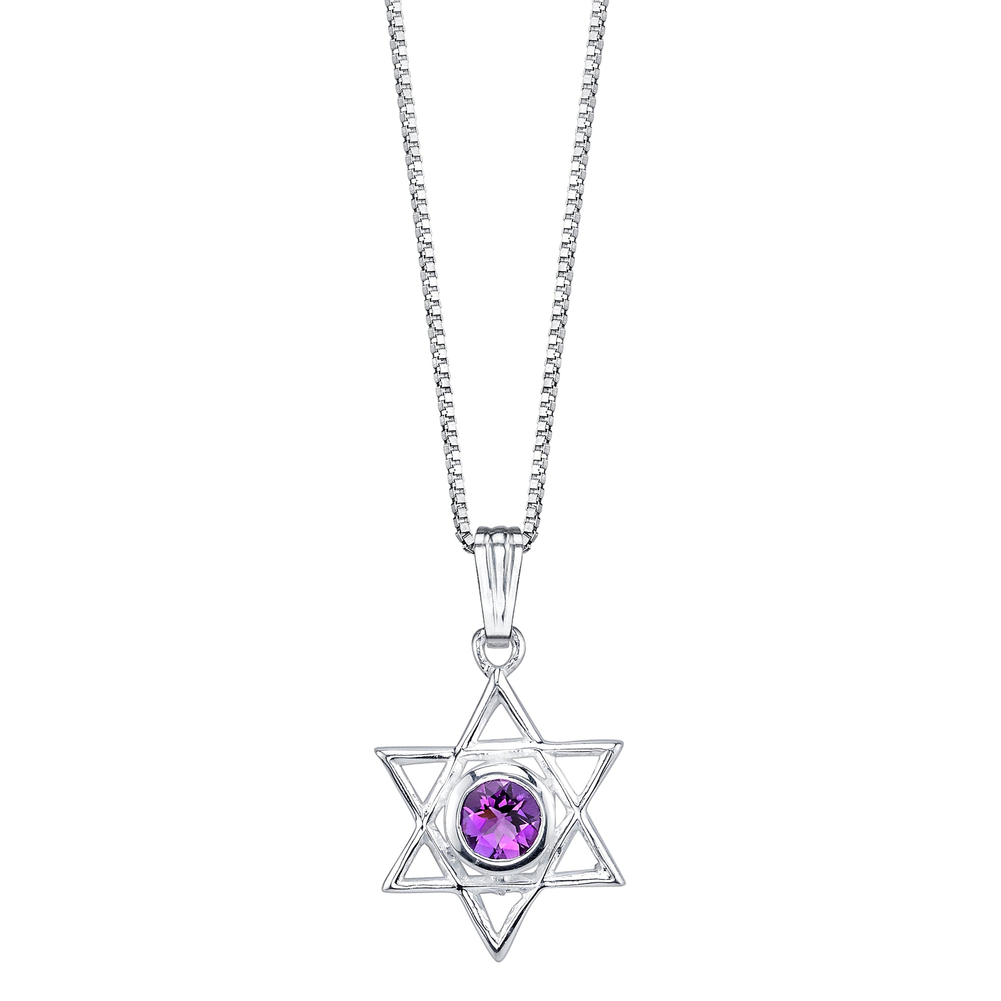 Amethyst Star of David Pendant