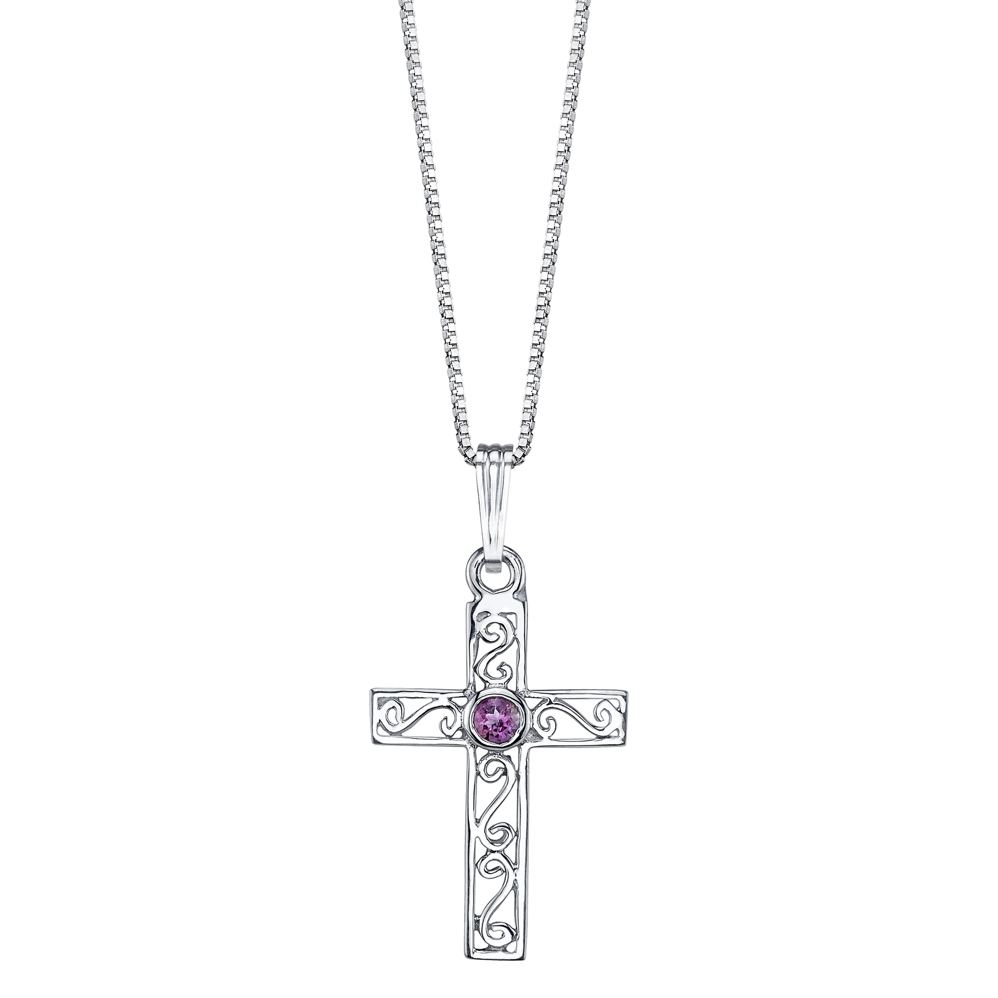 Delicate Cross Pendant with Stone