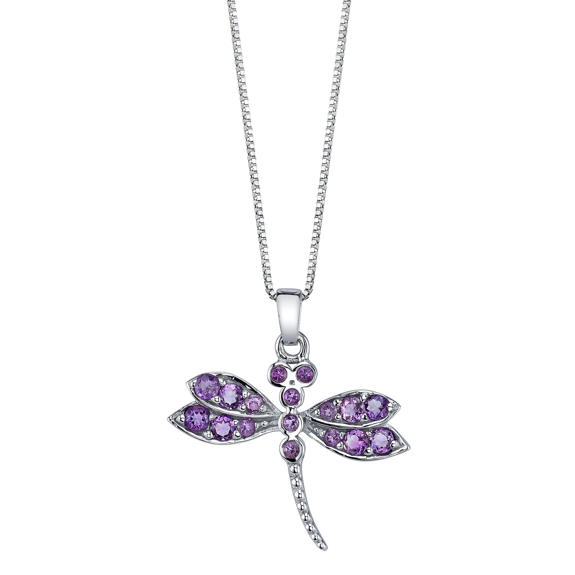 Pave Dragonfly Pendant