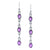 Chain-Link Oval Amethyst Drop Earrings