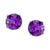 Checkerboard Amethyst Stud Earring