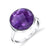 Checkerboard Bezel Amethyst Ring