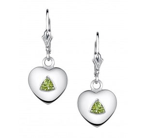 Trillion Heart Stone Earring