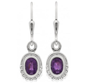 Delicate Oval Solitaire Earrings